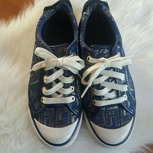 Coach canvas blue Barrett shoes sneakers size 6B